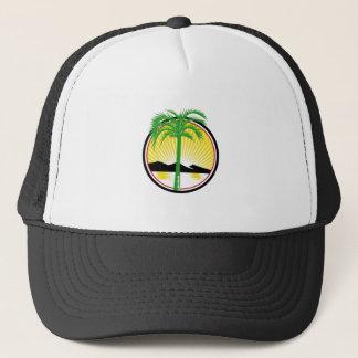 Royal Palm Beach Sea Mountain Retro Trucker Hat