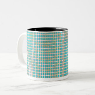 Royal-Peacock Fabric's(c)II-Styles & Colors Two-Tone Coffee Mug