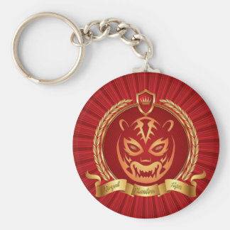 Royal Phantom Tiger,Multiple products selected Basic Round Button Key Ring