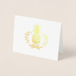 Royal Pineapple Note Card