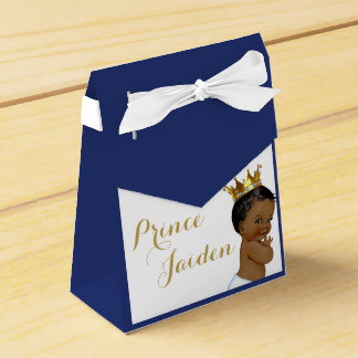 Royal Prince (African American) Favour tent boxes Wedding Favour Box