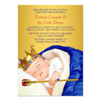 Royal Prince Baby Shower 13 Cm X 18 Cm Invitation Card