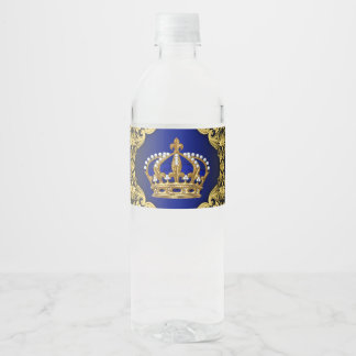 Royal Prince Baby Shower Water Bottle Labels