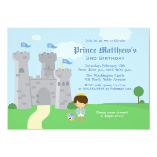 Royal prince charming boys birthday party invite
