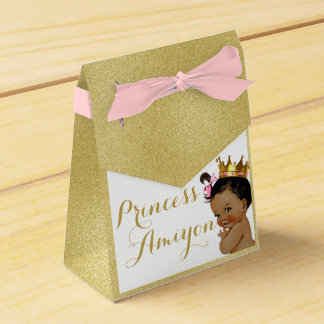 Royal Princess African Tent Favor Boxes Gold