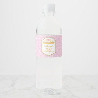 Royal Princess Celebration Water Bottle Label