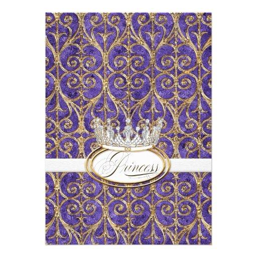 Royal Princess Crown Baby Shower Invitation