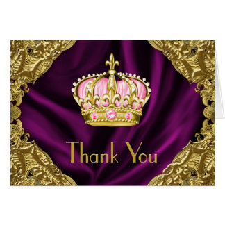 Royal Princess Thank You Card