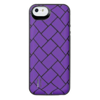 Royal Purple Basket Weave 2 iPhone SE/5/5s Battery Case