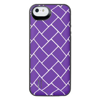 Royal Purple Basket Weave iPhone SE/5/5s Battery Case