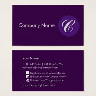 Royal Purple Business Card
