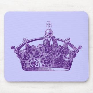 Royal Purple Crown Mouse Pads