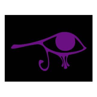 Royal Purple Eye of Horus Postcard