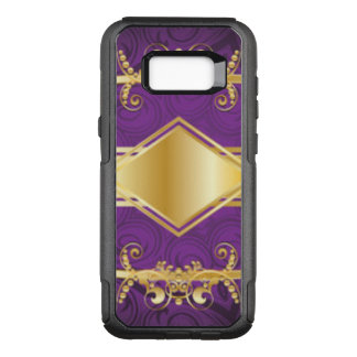 Royal Purple & Gold Pattern Design OtterBox Commuter Samsung Galaxy S8+ Case
