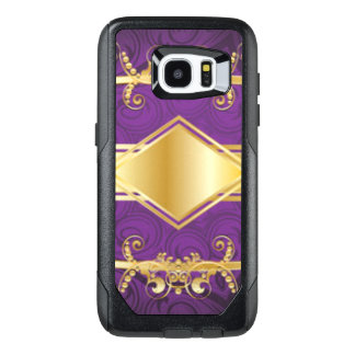 Royal Purple & Gold Pattern Print Design OtterBox Samsung Galaxy S7 Edge Case