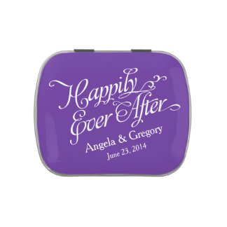 Royal Purple Happily Ever After Wedding Candy Tin