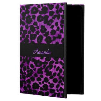 Royal Purple Leopard Print iPad Case
