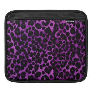 Royal Purple Leopard Print Sleeves For iPads