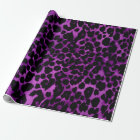 Royal Purple Leopard Print Wrapping Paper