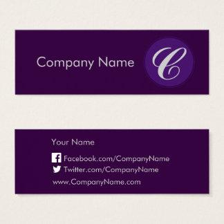 Royal Purple Mini Business Card