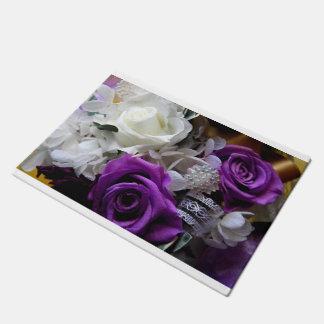 Royal Purple Rose Doormat