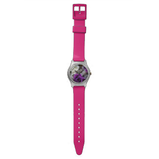 Royal Purple Rose Wristwatch