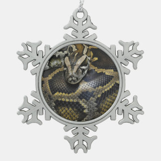 """Royal Python"" design products Snowflake Pewter Christmas Ornament"