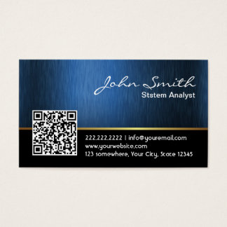 Royal QR code System Analyst Business Card