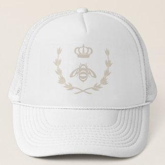 Royal Queen Bee Crown | Linen Beige Trucker Hat