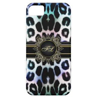 Royal Rainbow Leopard Personalised iPhone 5 Case