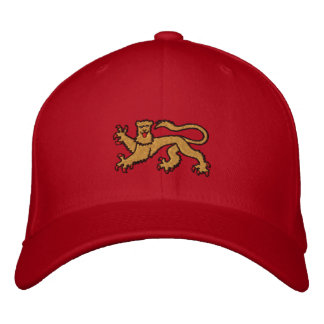 Royal rampant lion embroidered cap