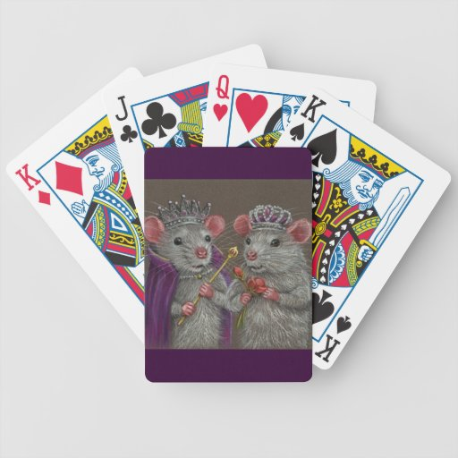 Royal Rats King and Queen Playing Cards