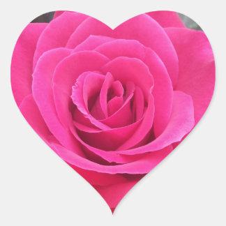 Royal Red Rose Heart Sticker