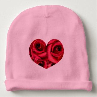 Royal Red Roses Regal Romance Crimson Lush Flowers Baby Beanie