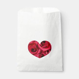 Royal Red Roses Regal Romance Crimson Lush Flowers Favour Bags