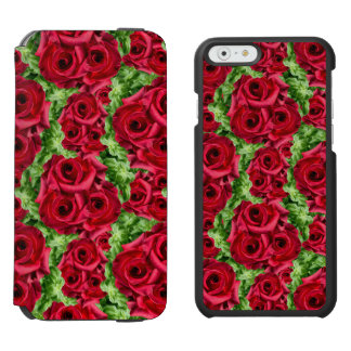 Royal Red Roses Regal Romance Crimson Lush Flowers Incipio Watson™ iPhone 6 Wallet Case