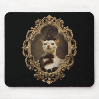 Royal Retro Kitty Framed Portrait Mousepad