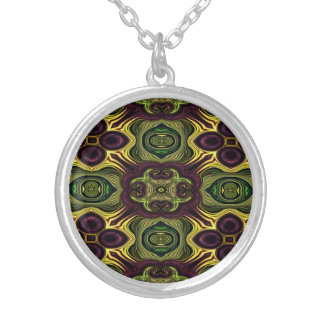 Royal Rich /Eggplant Yellow Color Silver Plated Necklace