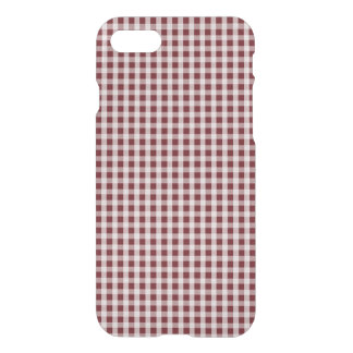 Royal Rose Red Gingham Check Plaid Pattern iPhone 8/7 Case