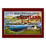 Royal Route of Scotland Summer Tours Vintage Greeting Card