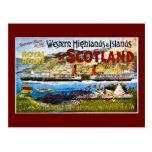 Royal Route of Scotland Summer Tours Vintage Postcard