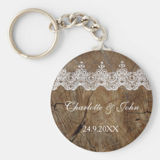 Royal Rustic Chic Save The Date Key Round Gift Key Ring