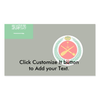 Royal Saudi Air Defense Forces, Sao Tome and Princ Pack Of Standard Business Cards