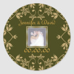 Royal Save The Date Stickers