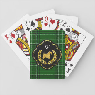 Royal Scottie Winning Hand Monogram Playing Cards