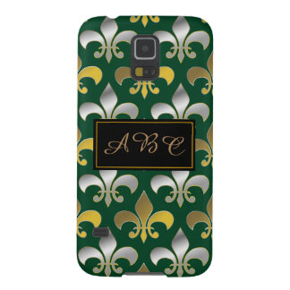 Royal Silver and Gold Fleur-de-lis Case For Galaxy S5
