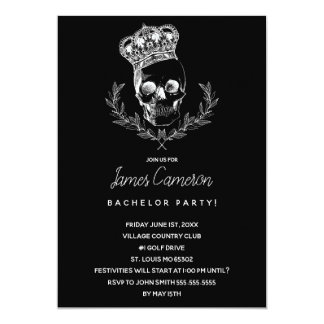 Royal Skull Bachelor Party Card
