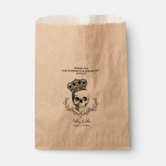 Royal Skull Wedding Favor Favour Bag