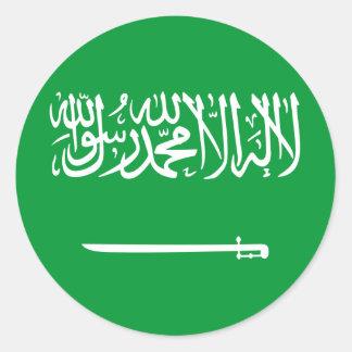 Royal Standard Of Saudi Arabia, Saudi Arabia flag Classic Round Sticker