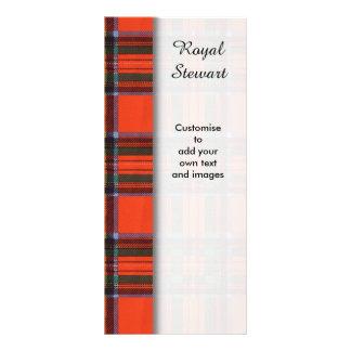 Royal Stewart clan Plaid Scottish tartan Rack Card Template